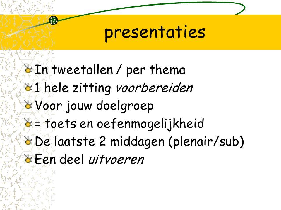 huiswerk Lezen Maken –Functionele analyse (SORC) van een potentiële deelnemer / adhv een indicatie - interview Programma's mee