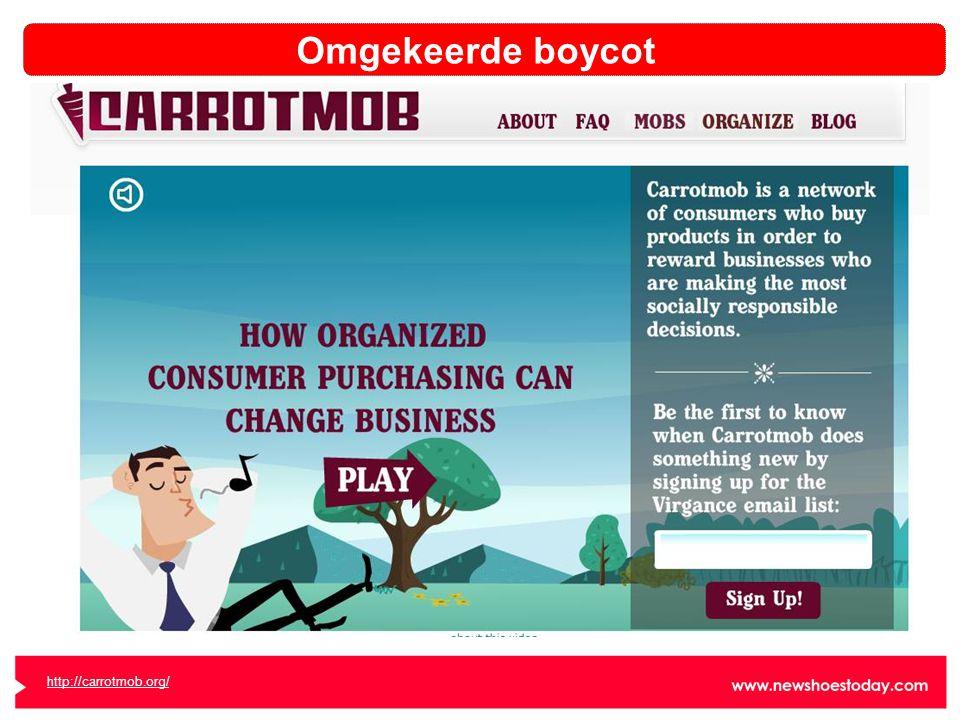 Omgekeerde boycot http://carrotmob.org/