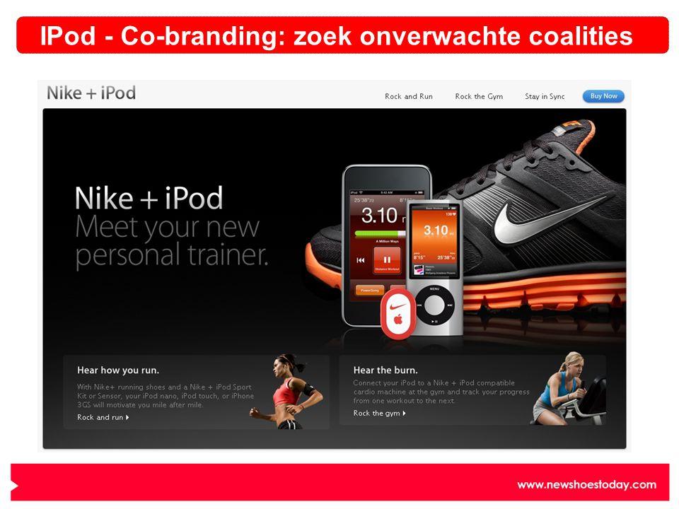 IPod - Co-branding: zoek onverwachte coalities