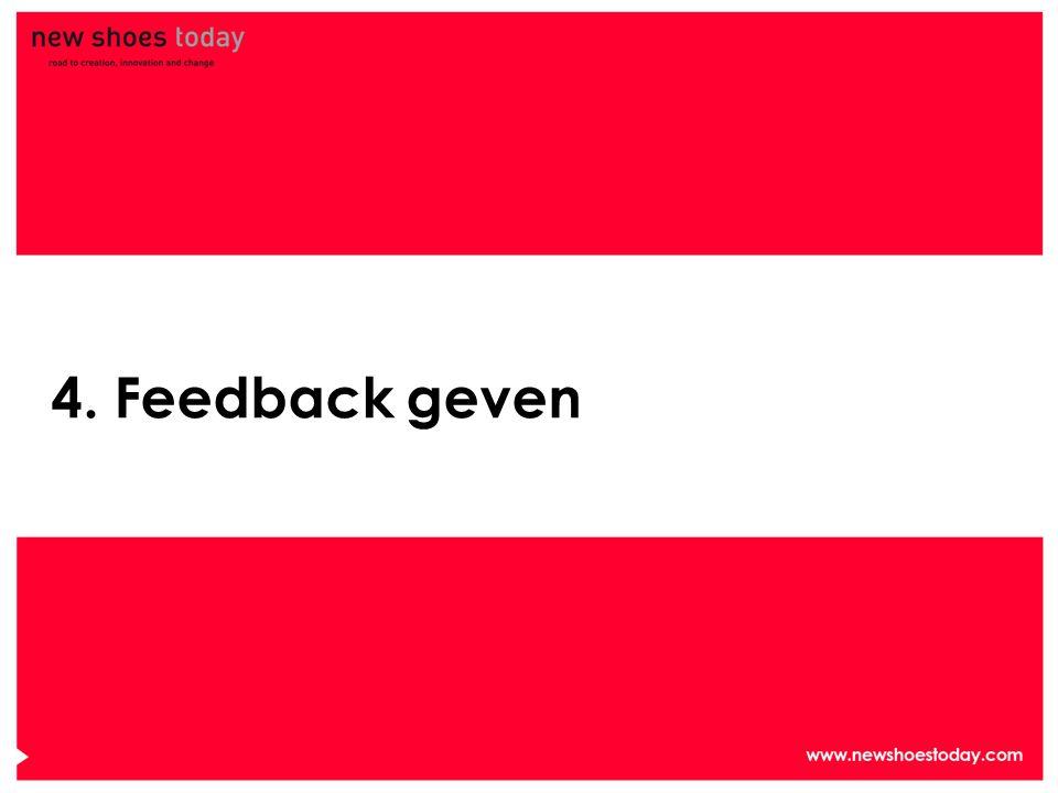 4. Feedback geven