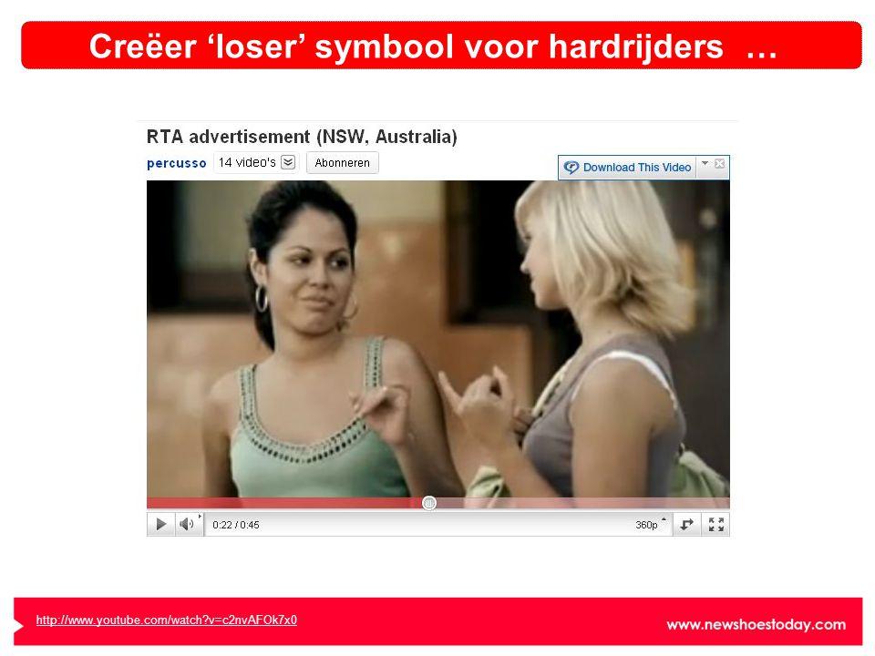 http://www.youtube.com/watch v=c2nvAFOk7x0 Creëer 'loser' symbool voor hardrijders …