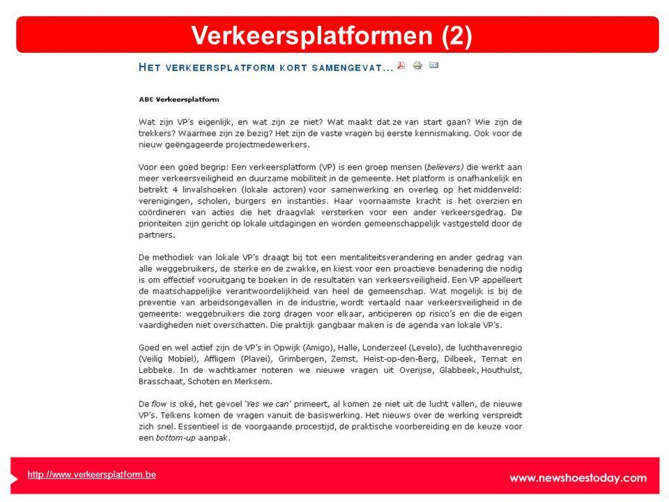 http://www.verkeersplatform.be Verkeersplatformen (2)