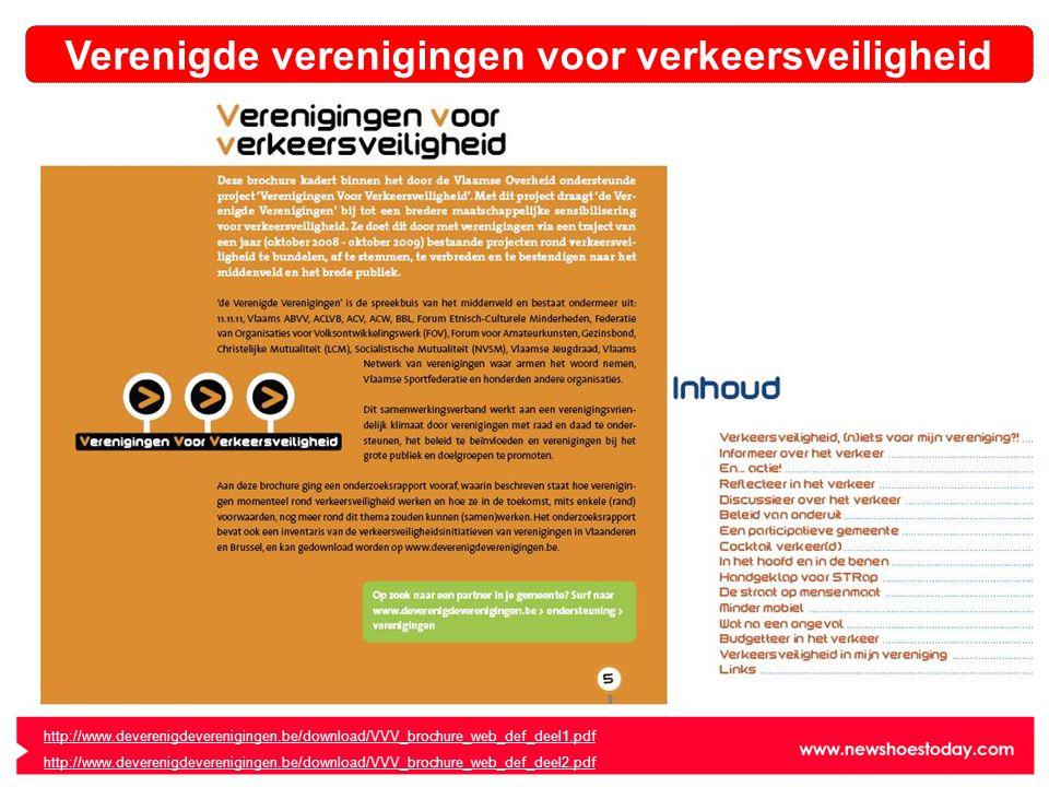http://www.deverenigdeverenigingen.be/download/VVV_brochure_web_def_deel1.pdf http://www.deverenigdeverenigingen.be/download/VVV_brochure_web_def_deel2.pdf Verenigde verenigingen voor verkeersveiligheid