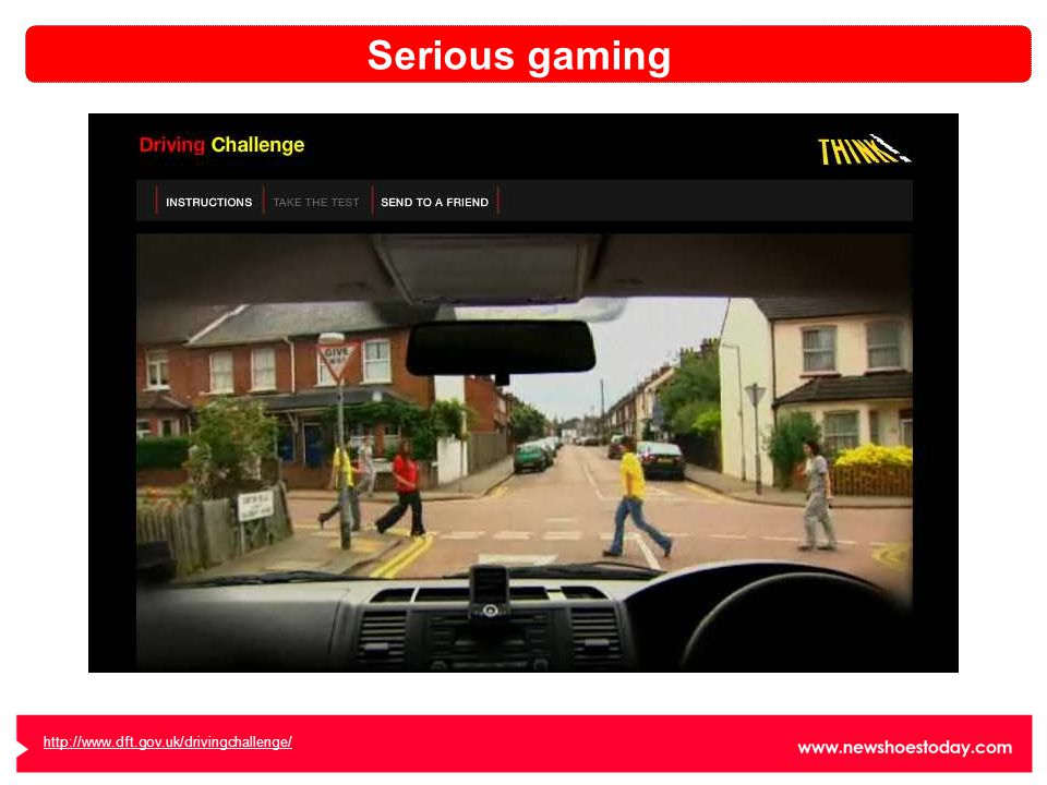 http://www.dft.gov.uk/drivingchallenge/ Serious gaming