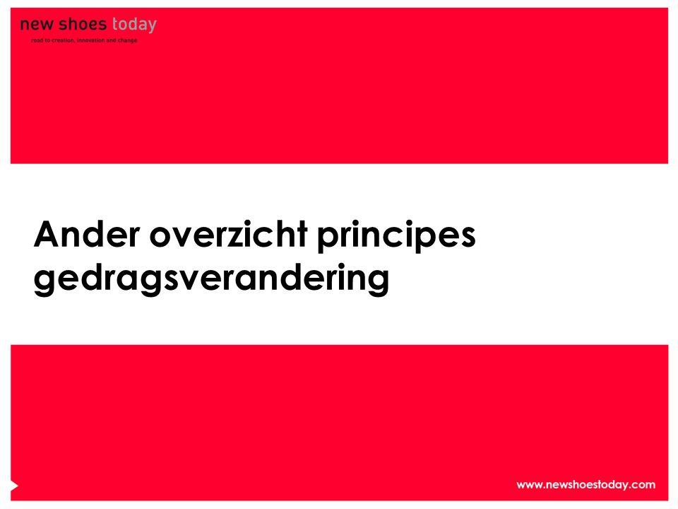 Ander overzicht principes gedragsverandering