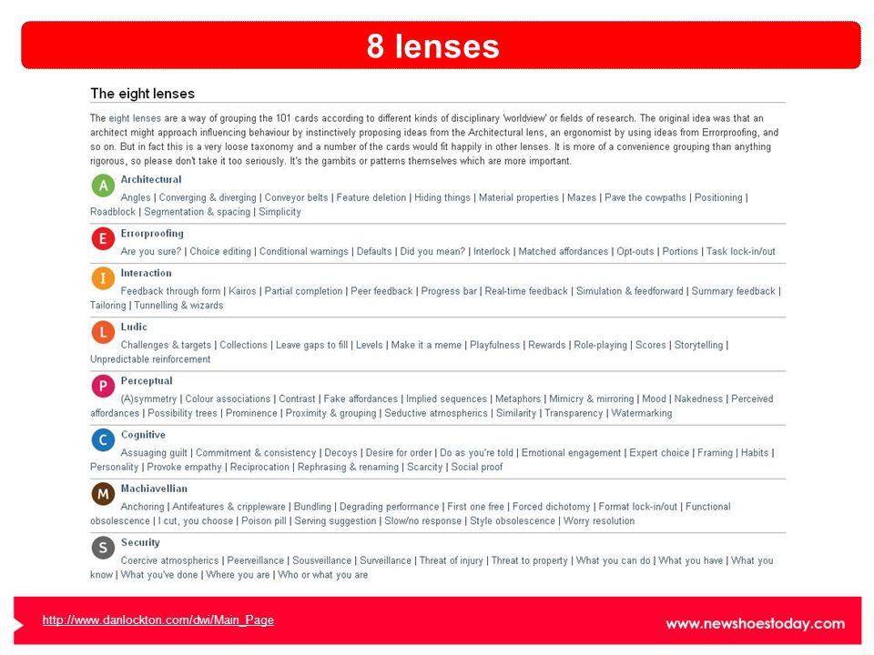 8 lenses http://www.danlockton.com/dwi/Main_Page