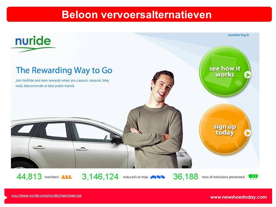 http:// www.nuride.com/nuride/main/main.jsp Beloon vervoersalternatieven