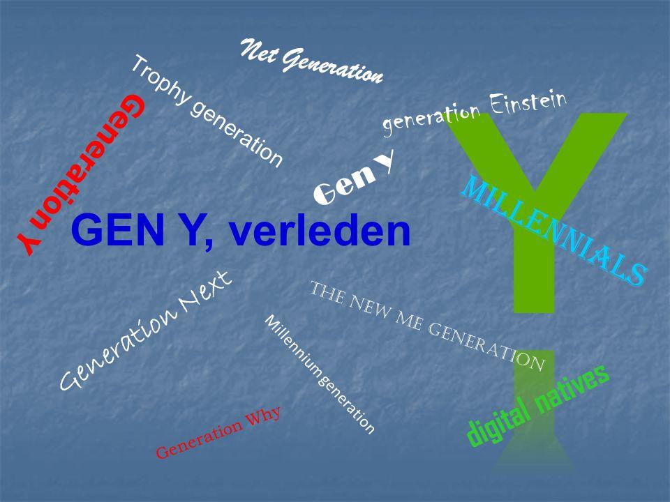 Generation Y Millennium generation Gen Y Generation Next Net Generation The new me generation Trophy generation digital natives Millennials generation Einstein GEN Y, verleden Generation Why