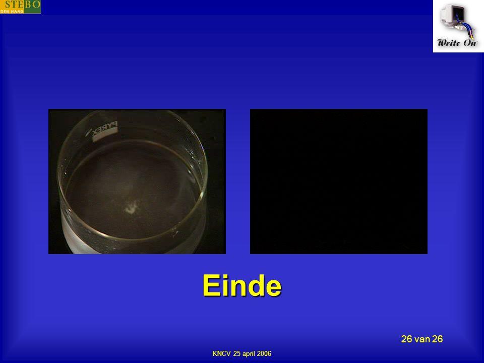 KNCV 25 april 2006 26 van 26 Einde