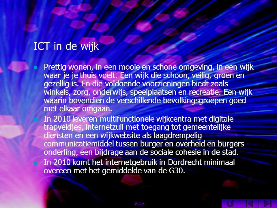 ICT in de wijk  Prettig wonen, in een mooie en schone omgeving, in een wijk waar je je thuis voelt.