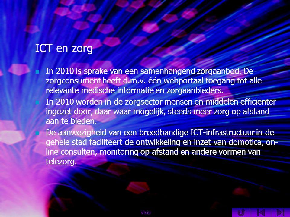 ICT en zorg  In 2010 is sprake van een samenhangend zorgaanbod.