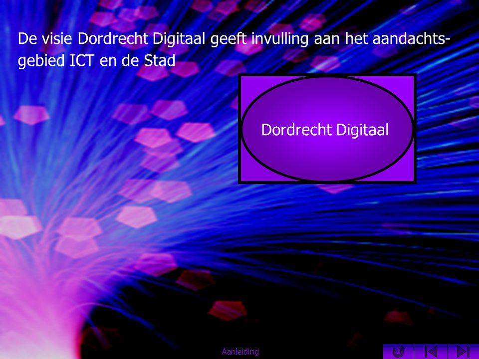 De visie Dordrecht Digitaal geeft invulling aan het aandachts- gebied ICT en de Stad ICT en de Stad Dordrecht Digitaal Aanleiding