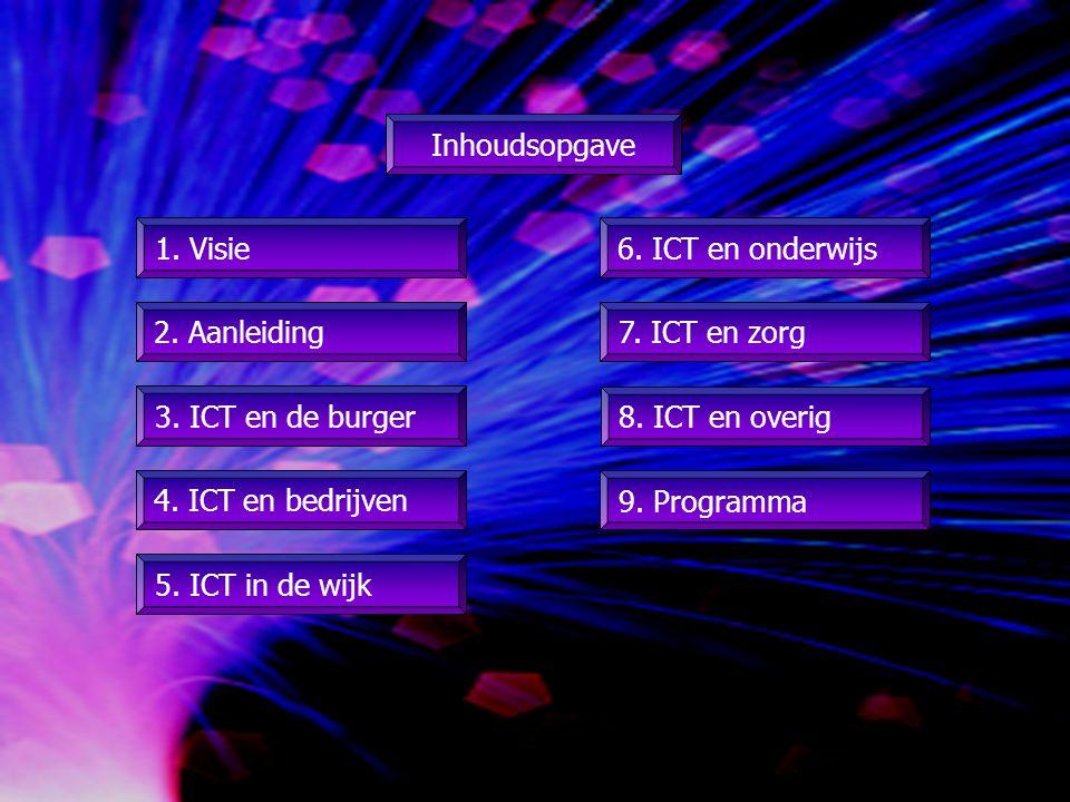 1. Visie 2. Aanleiding 8. ICT en overig Inhoudsopgave 7.