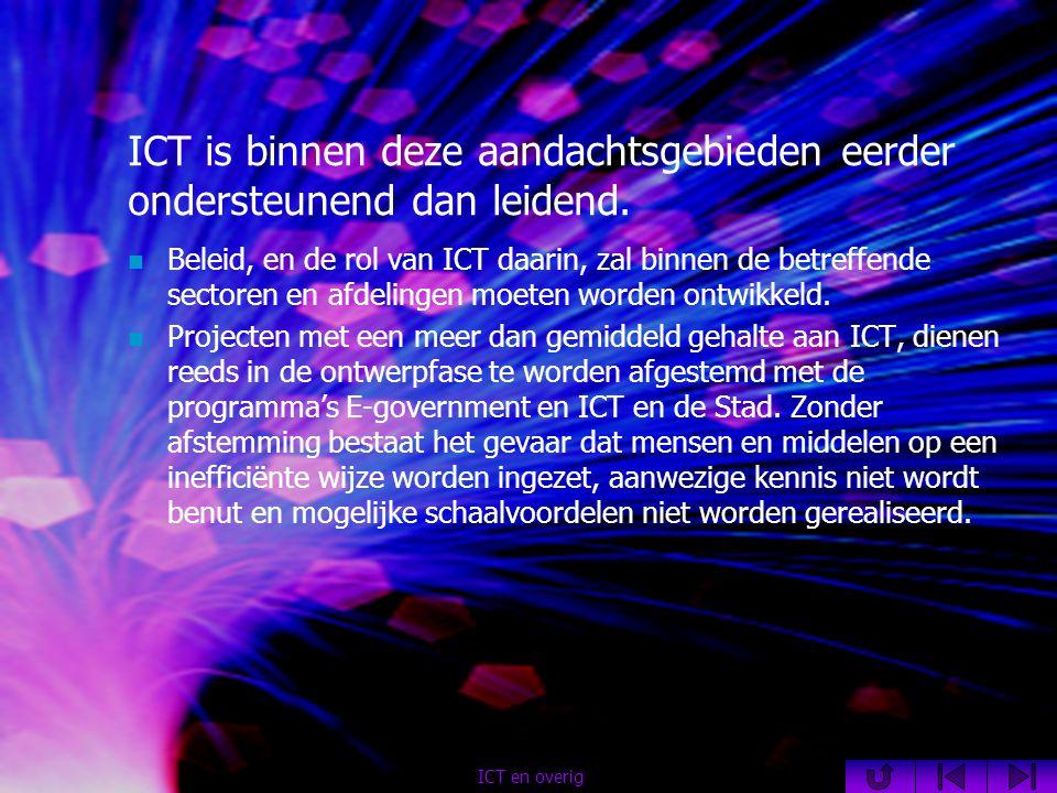 ICT is binnen deze aandachtsgebieden eerder ondersteunend dan leidend.