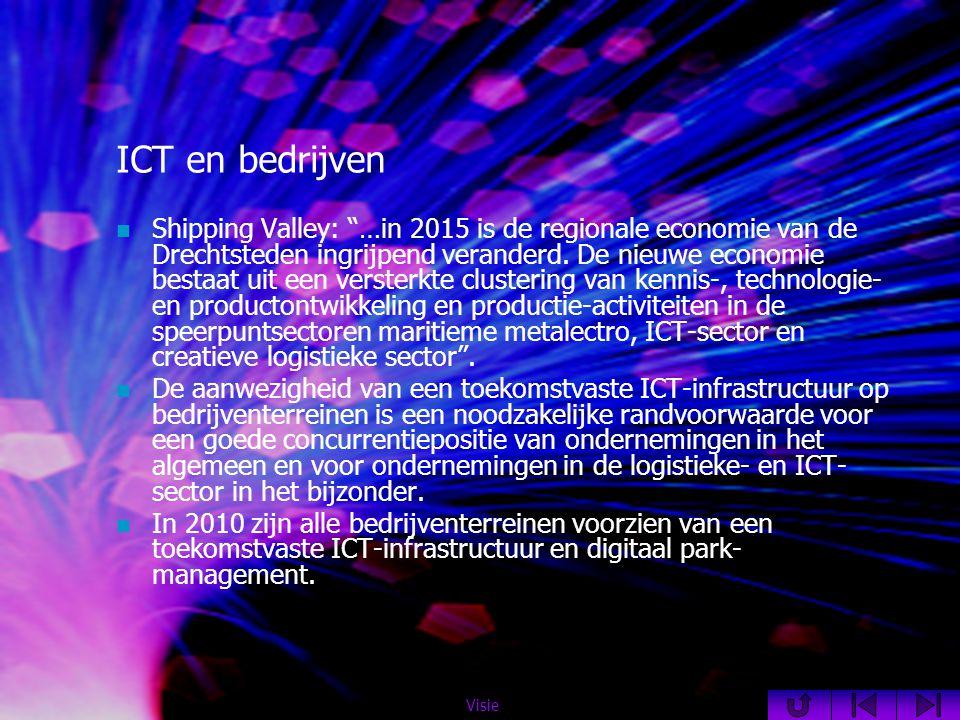 ICT en bedrijven  Shipping Valley: …in 2015 is de regionale economie van de Drechtsteden ingrijpend veranderd.