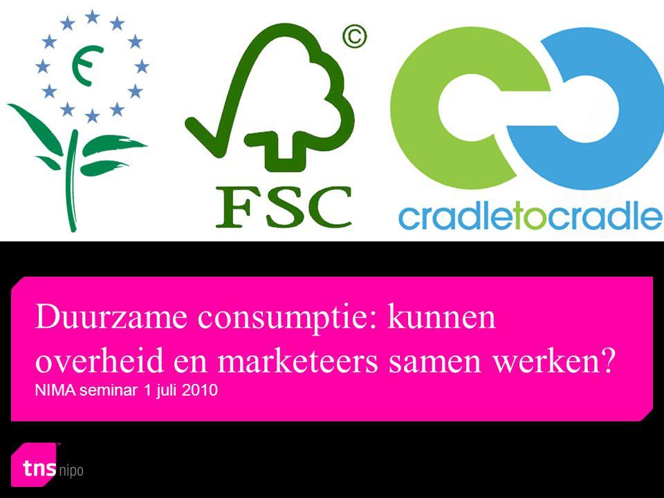 Index Duurzame consumptie: kunnen overheid en marketeers samen werken.