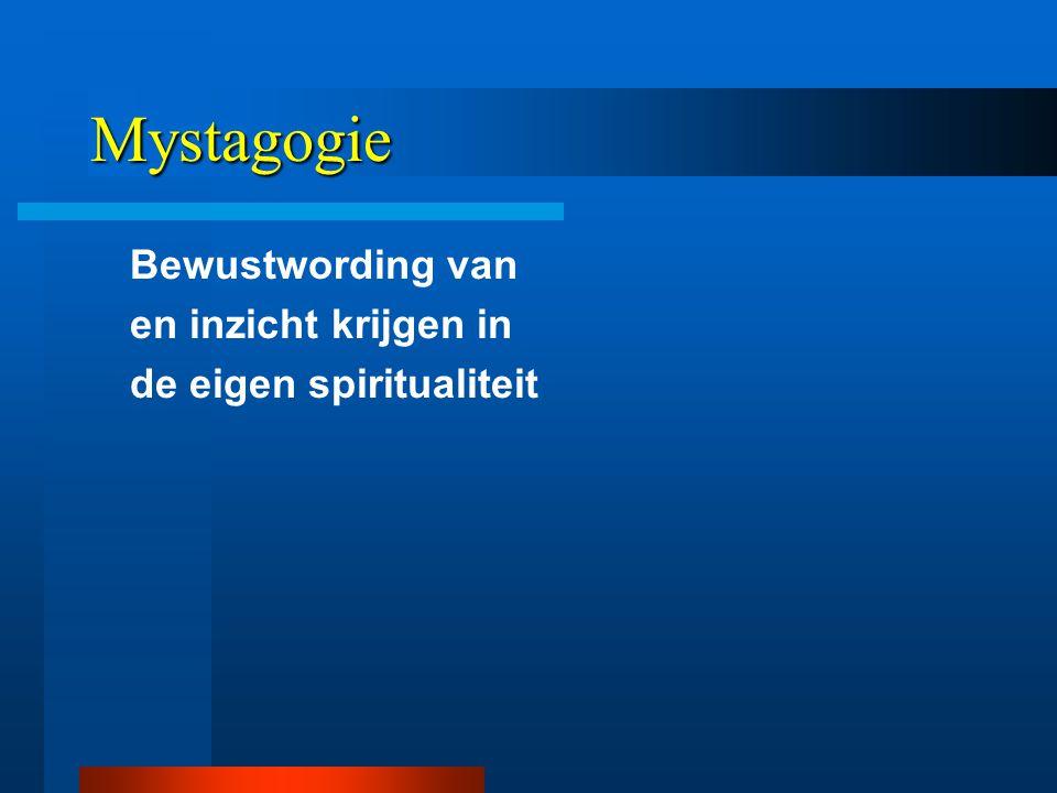 Mystagogie Bewustwording van en inzicht krijgen in de eigen spiritualiteit