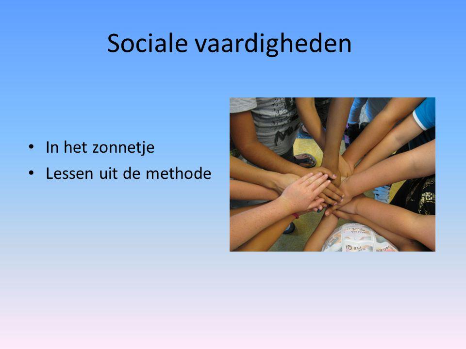 Sociale vaardigheden • In het zonnetje • Lessen uit de methode