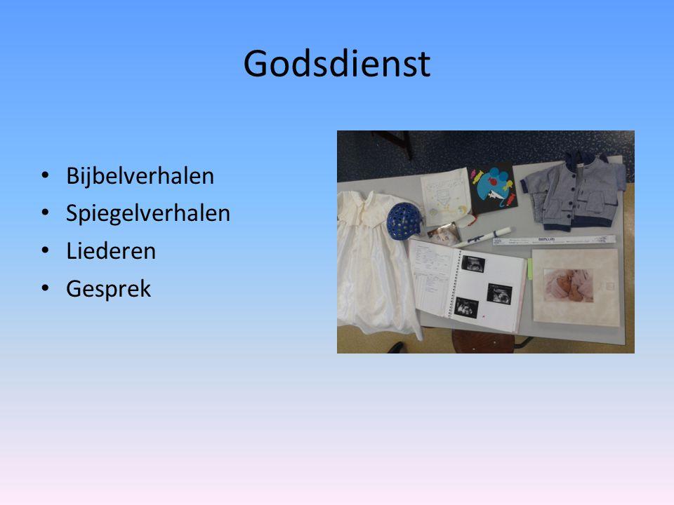 Godsdienst • Bijbelverhalen • Spiegelverhalen • Liederen • Gesprek