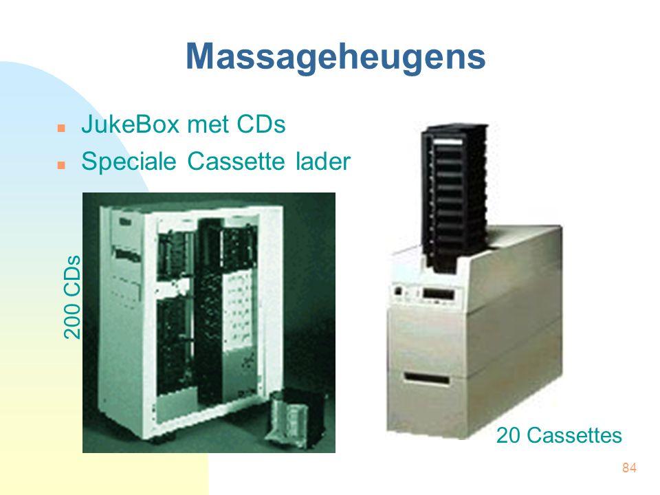 84 Massageheugens  JukeBox met CDs  Speciale Cassette lader 200 CDs 20 Cassettes