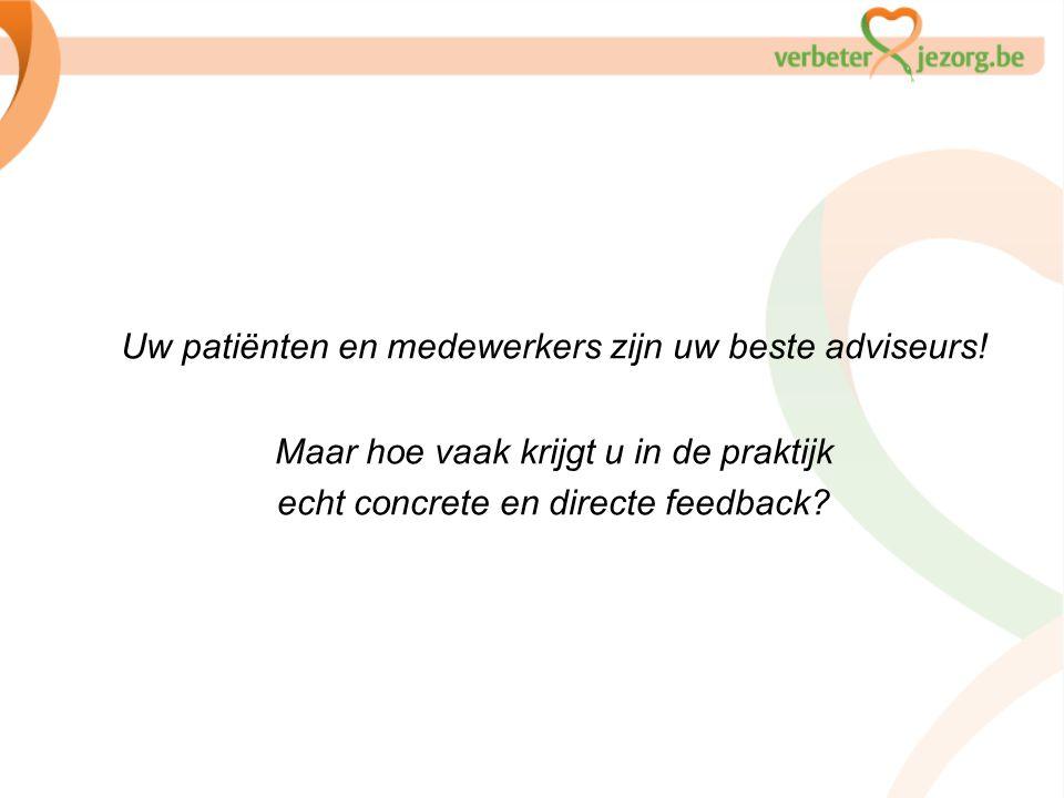 Uw patiënten en medewerkers zijn uw beste adviseurs! Maar hoe vaak krijgt u in de praktijk echt concrete en directe feedback?
