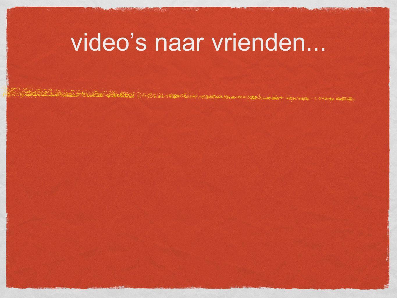 video's naar vrienden...