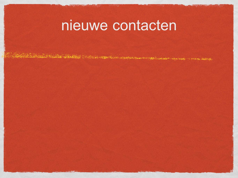 nieuwe contacten
