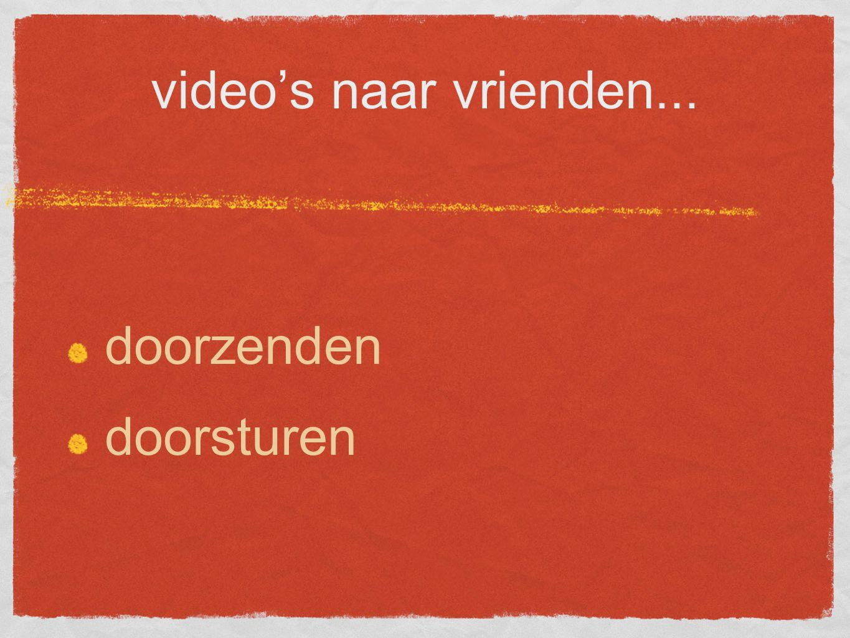 video's naar vrienden... doorzenden doorsturen