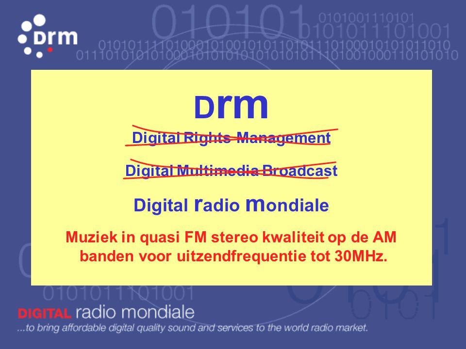 Voorstelling van het digitaal radiosysteem D rm juli 2011 - www.videosat.be