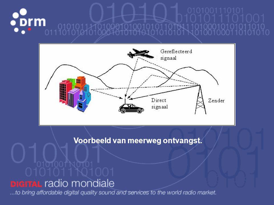 Hoe wordt de volledige D rm datastroom gemoduleerd of op de hoogfrequent radiodraaggolf vastgezet? De toegepaste technologie ë n zijn: * OFDM - Orthog