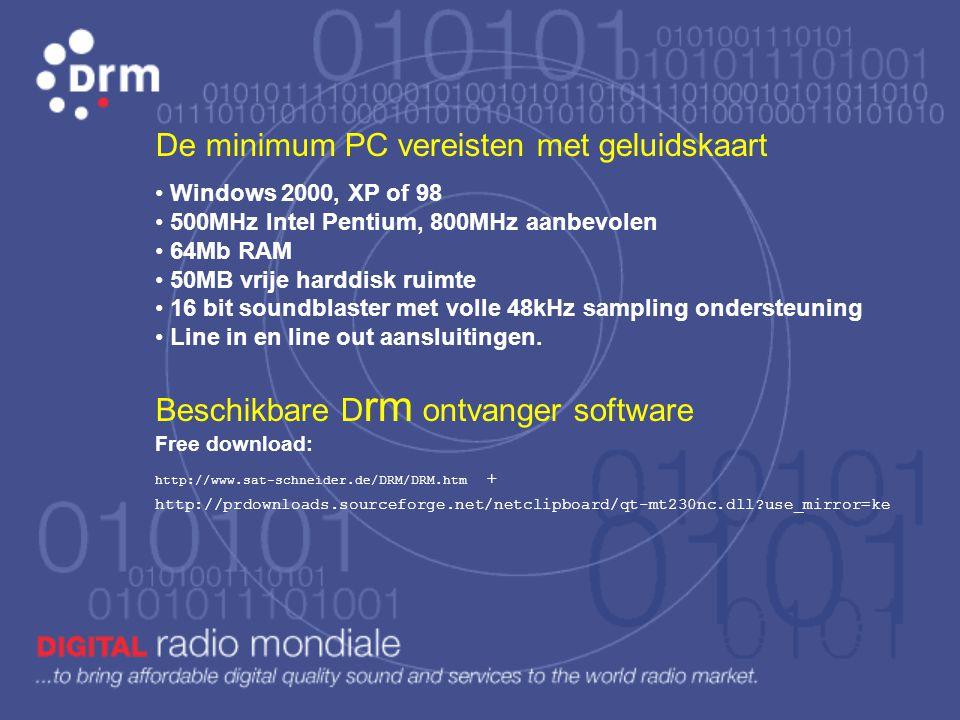 Decoderen: het signaal is volledig digitaal, dus verwerken met PC en geschikte software.
