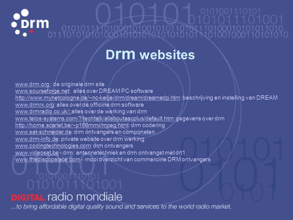 AAC AFS AM BER CD COFDM DAB DRM DVB DVB-T EEP FAC FFT FM HF ISI ITU LF MPEG-2/4 Advanced Audio Coding Alternative Frequency Switching Amplitude Modula