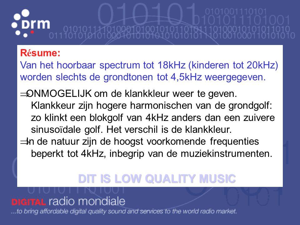Gevolg: In de MG 550 tot 1611kHz, en kanaalafstand van 40kHz zou er slechts plaats zijn voor 26 radiozenders wereldwijd. Daarom: Internationale afspra