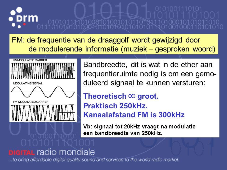 2) FM (frequentiemodulatie) is gestart in de jaren 1942 - 1950 door een groot tekort aan frequenties en de vraag naar betere geluidsoverdracht. De fre