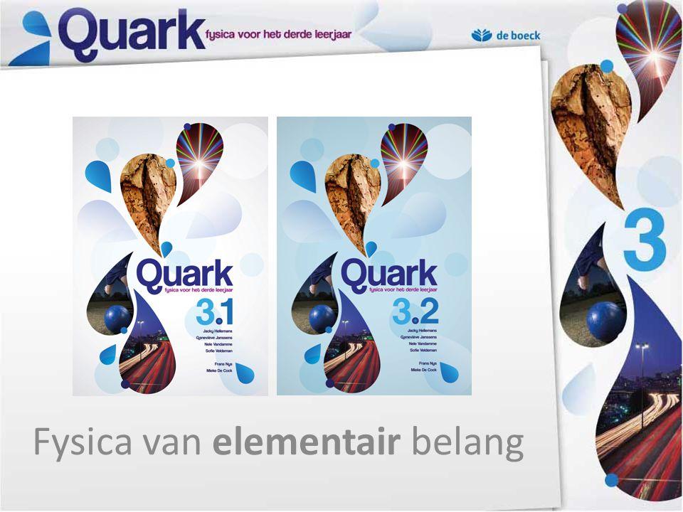 Inhoud 1.Uitgangspunten leerplan 2.Quark – doelpubliek 3.Quark in thema's 4.Quark – didactische pijlers 5.Quark – een thema ontleed 6.Didactische ondersteuning