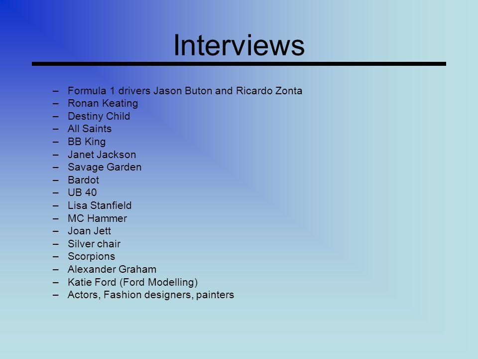 Voorbeeld (1) Interview met Ronan Keating