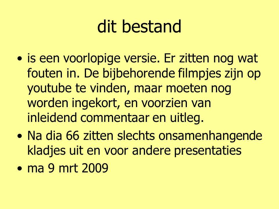 5 4 3 2 1 •Lijst van weblinks •http://www.youtube.nl/watch?gl=NL&hl=nl&v=RTOQUnvI3CAhttp://www.youtube.nl/watch?gl=NL&hl=nl&v=RTOQUnvI3CA •http://www.youtube.nl/watch?v=P6NTyEA8c58http://www.youtube.nl/watch?v=P6NTyEA8c58