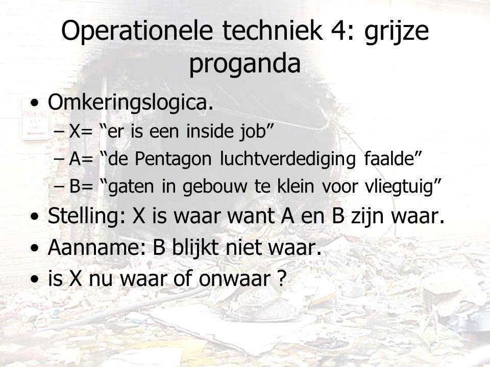 Operationele techniek 4: grijze proganda •Omkeringslogica.