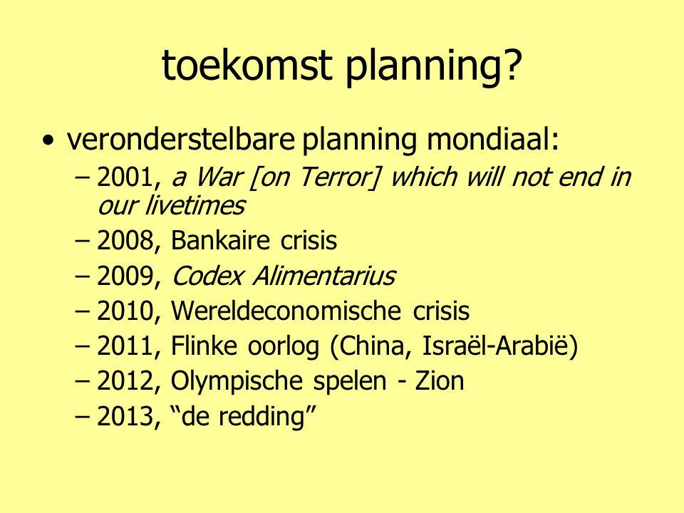 toekomst planning.
