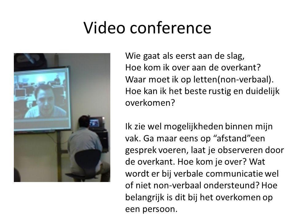 Video conference Wie gaat als eerst aan de slag, Hoe kom ik over aan de overkant.