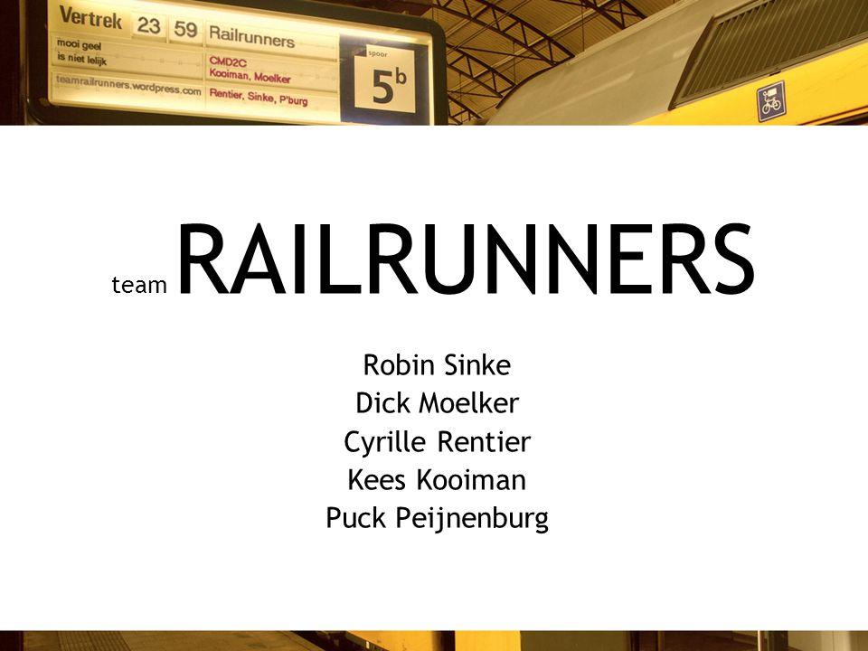 team RAILRUNNERS Robin Sinke Dick Moelker Cyrille Rentier Kees Kooiman Puck Peijnenburg