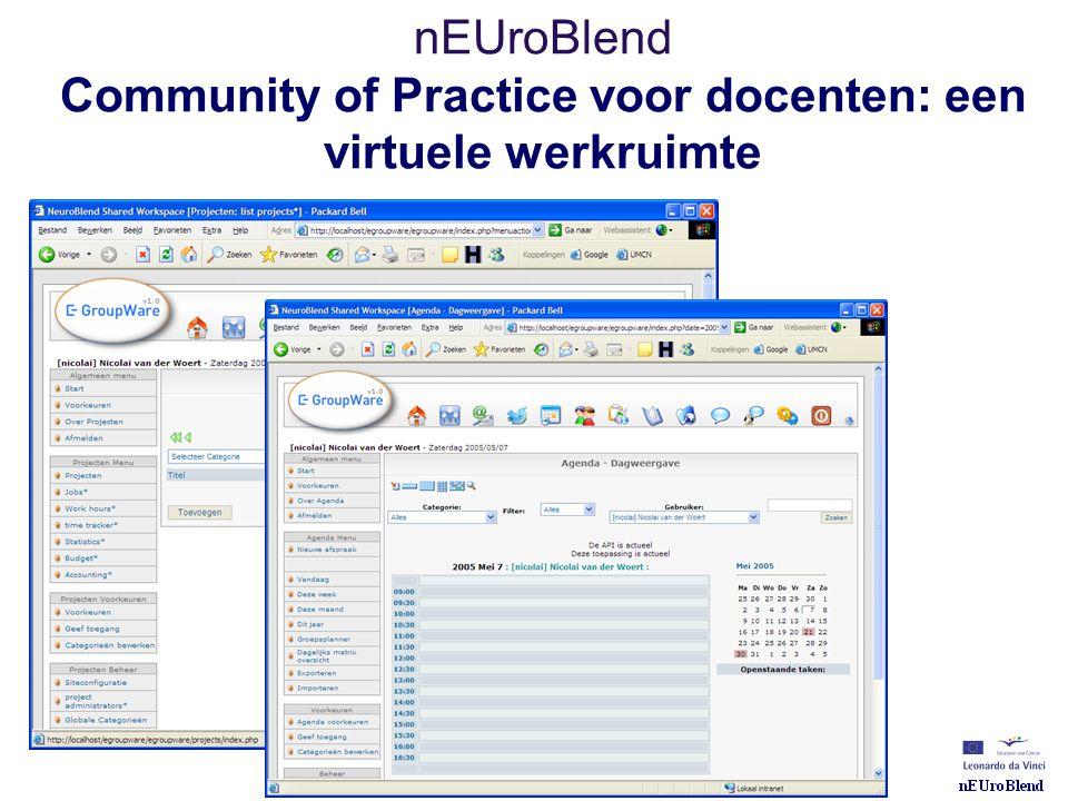 nEUroBlend Community of Practice voor docenten: een virtuele werkruimte