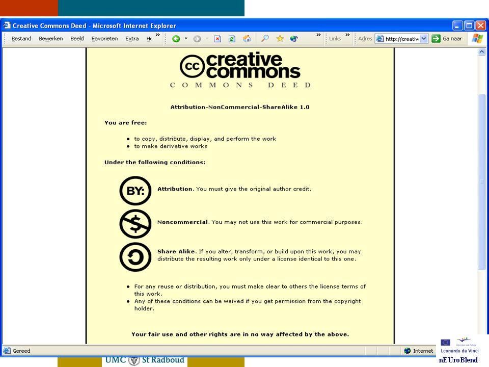 nEUroBlend Presentation, den Bosch, sep 30, 2005 nEUroBlend de HEAL database/repository • http://www.healcentral.org http://www.healcentral.org • Peer reviewed • Rangschikking is mogelijk • Multimedia • Metadata Mesh, IEEE-Lom • Kennis delen met elkaar • Open Source, gratis .
