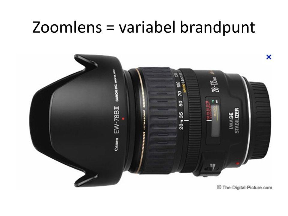 Zoomlens = variabel brandpunt