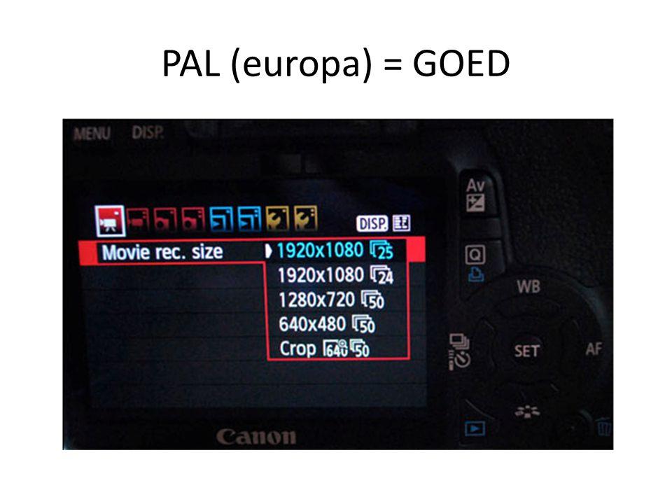 PAL (europa) = GOED