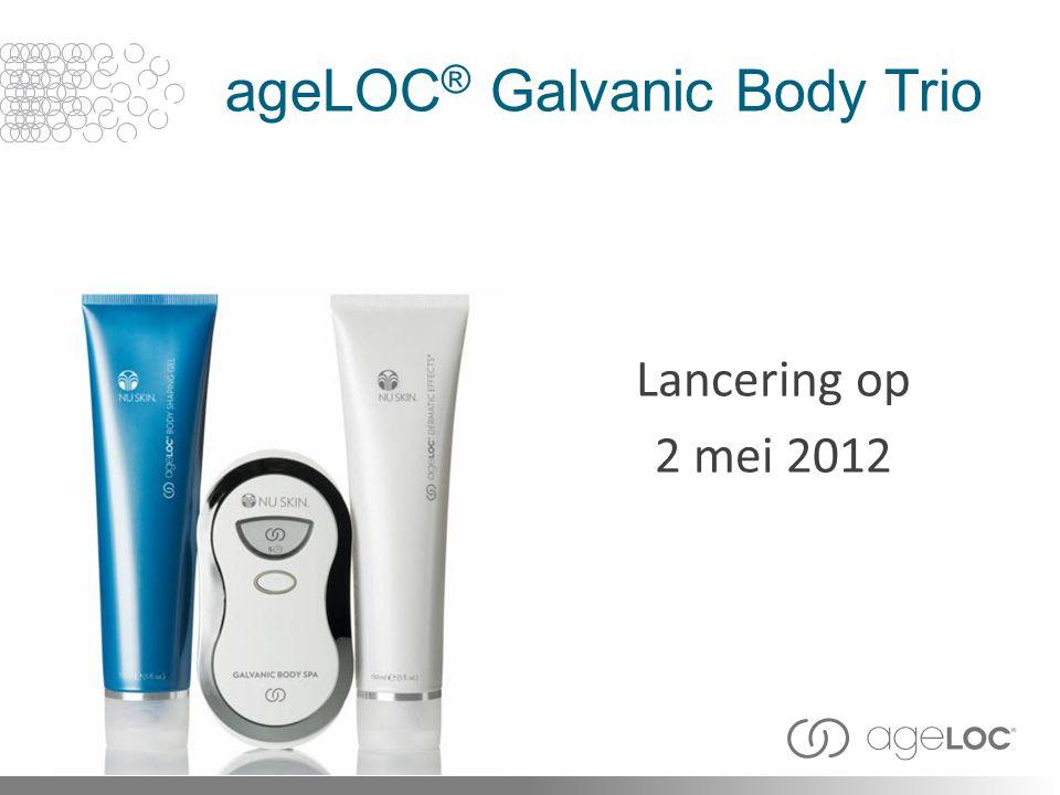 ageLOC ® Galvanic Body Trio Lancering op 2 mei 2012