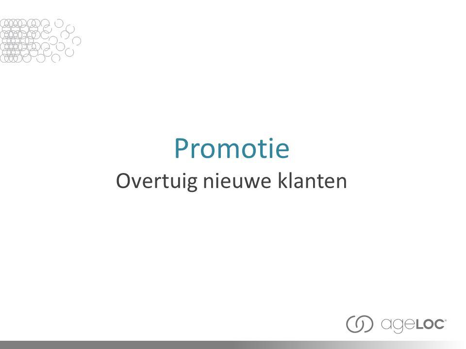 Promotie Overtuig nieuwe klanten