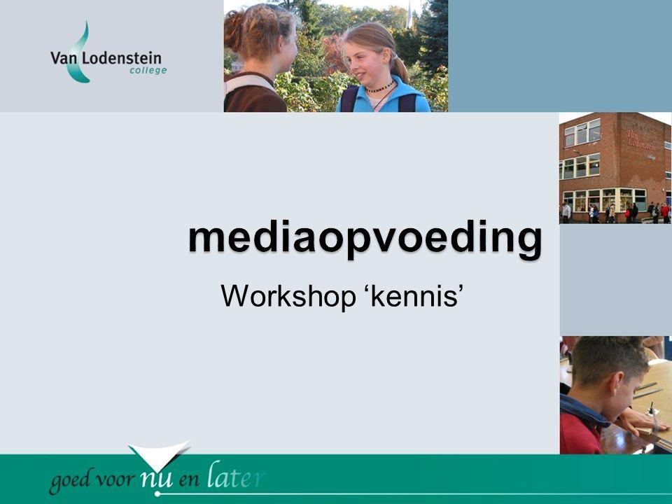 Workshop 'kennis'