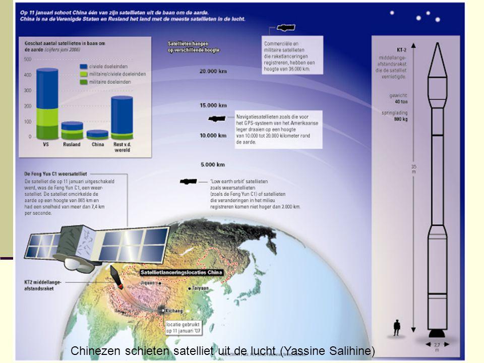 Chinezen schieten satelliet uit de lucht (Yassine Salihine)