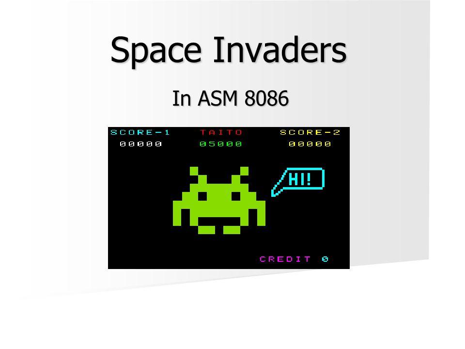 Inhoud  Inleiding: Space Invaders  Features  Commando's  Overzicht functies en macros: -Graphics -Graphics-Keyboard-Beweging -Collision detection -Muziek -Main code  Demo
